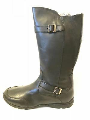 867b9fc4855 Hush Puppies Ladies Womens Cowgirl Smart Leather Zip Up Riding Black Boots  Girls