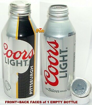 2015 Pittsburgh Steelers Coors Light Beer Aluminum Bottle Nfl Football Pa Sports