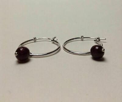 Sterling Silver Natural Gemstone Earrings CLEARANCE Various Style Ruby, Diopside