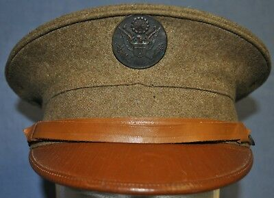 WWI U.S. Army M1912 Enlisted Visor Service Cap - Size 7 1/8