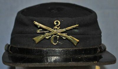 "1890's School Boy Forage Cap - 2nd Infantry Co. ""C"""