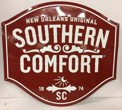 Southern Comfort Metal Tin Advertising Sign Large 18 x 17 Used SoCo