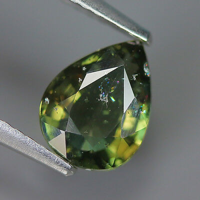 1.33 Ct Natural Unheated Greenish Yellow KORNERUPINE Pear Gem @ See Vide!