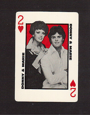 Donny & Marie Osmond Variety Show Rare 1978 Promo TV Series Playing Card