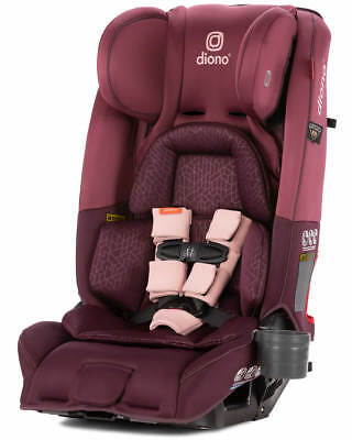 Diono Radian 3 RXT All-in-One Convertible + Booster Child Safety Car Seat Plum