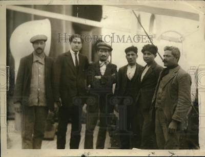 1920 Press Photo Italian Stowaways SS Pante Alligheri Sent to SS Guiseppe Verdi