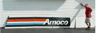 """20' FT x 32"""" Huge AMOCO Gas Station Sign From Pontiac Illinois"""