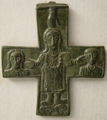PCW-AN369-BYZANTINE EMPIRE. Ca. 10th-12th. Century AD. Bronze cross. Excellent.