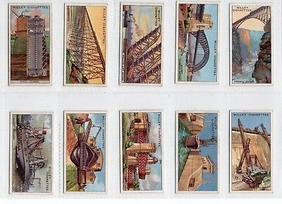 Complete Set of 50 Vintage ENGINEERING Cards from 1927