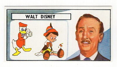 Vintage 1966 Trade Card of WALT DISNEY