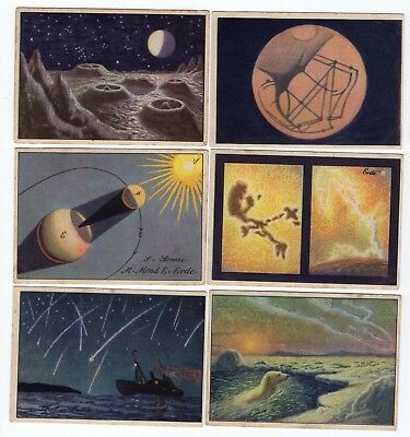 Complete Set of 6 Vintage Astronomy Cards from 1929