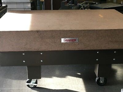 Starrett 72 x 48 x 10 inch Grade A Granite Inspection Table Plate