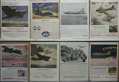 B-17 Flying Fortress Ad Lot (16) Print ads WWII Boeing bomber