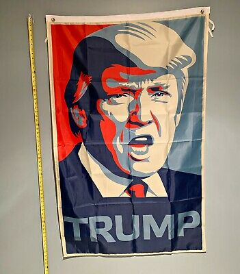 DONALD TRUMP FLAG *!!FIRST CLASS FREE SHIPPING!!* RED & Blue 2020 3x5""