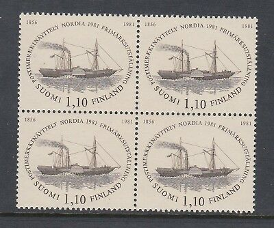 "FINLAND 1981 ""NORDIA '81"" block of 4, Mint Never Hinged"