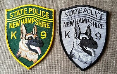 USA - 2 x Different New Hampshire State Police K9 Patches