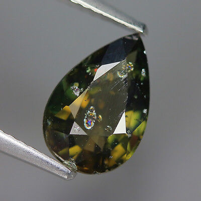 2.00 Ct Natural Unheated Greenish Yellow KORNERUPINE Pear Gem @ See Vide!