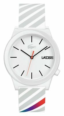 Lacoste Men's Motion 2010935 White Silicone Strap Watch
