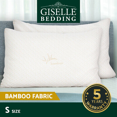 Giselle Bedding Shredded Memory Foam Pillows Bamboo Cover Cool Gel Twin Pack