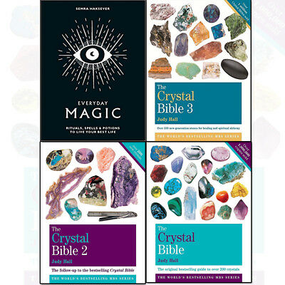 Judy Hall The Crystal Bible Volume 1- 4 Books Shrink Wrapped Pack Collection Set