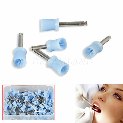 Dental Prophy Cup Rubber Polish Brush Polishing Tooth Firm Blue UK THoMK