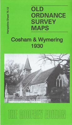 Old Ordnance Survey Map Cosham Wymering 1930 Portsmouth Racecourse Salisbury Rd