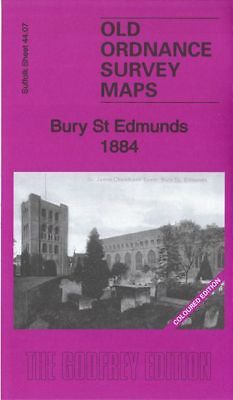 Old Ordnance Survey Map Bury St Edmunds 1884 Westgate St Cornhill Moreton Hall
