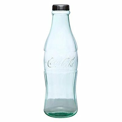 Clear Coca-Cola Coke Large Contour Bottle Coin Money Bank Collector Holder