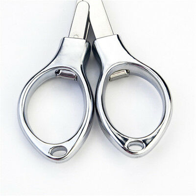 Folding Stainless Steel Scissors Camping Fishing Scissor Mini Cutter OE
