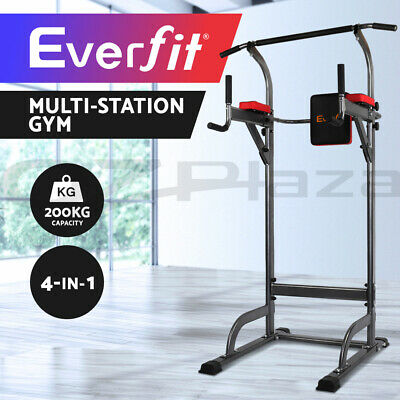 Everfit Knee Raise Power Tower Chin Up Push Pull Dip Fitness Station Exercise