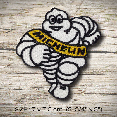 """MICHELIN Man Tires Car Truck Embroidered Patch~Iron Sew On~3 1//2/"""" x 3/""""~FREE Mail"""