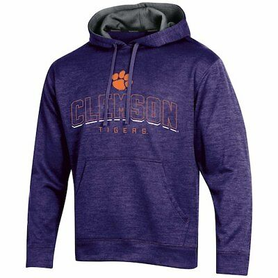 Men's Russell Purple Clemson Tigers Synthetic Pullover Hoodie