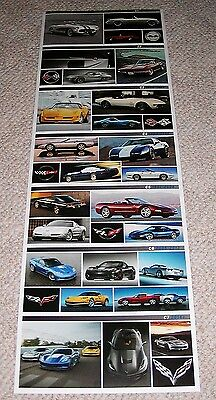 Corvette History Poster / C7 Carbon 65 Poster - 2 sided poster