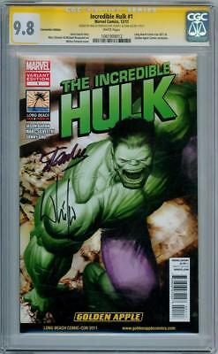 Incredible Hulk #1 Variant Cgc 9.8 Signature Series Signed Stan Lee Portacio