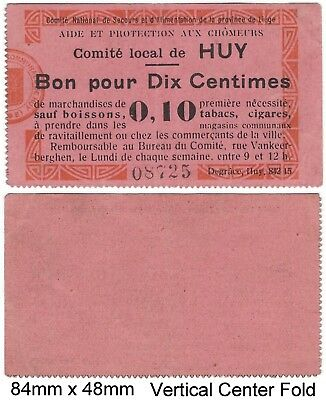 WWI FRANCE HUY 0.10 Good For Necessities EXCEPT for Drinks, Tobacco, Cigars