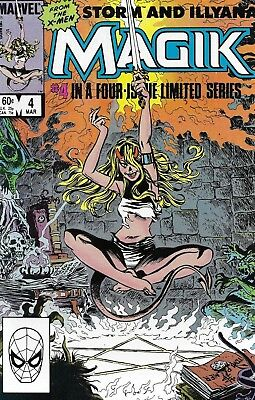Magik Comic Issue 4 Illyana And Storm Limited Series Copper Age First Print 1984