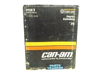 Oem Genuine Can-Am Parts Catalog Manual MX-1 125 175 735009001 1974