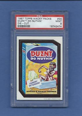 Wacky Packages 1967 Die Cut # 34 Duzn't Do Nuthin' Psa 9 Mint None Higher!