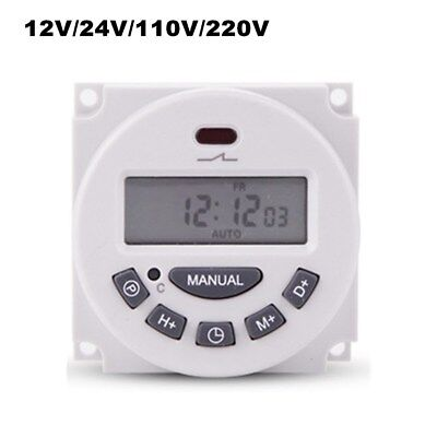 12~220V Digital LCD Clock Digital Programmable Control Power Timer Switch Relay