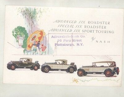 1928 Nash Advanced Special Six Roadster Sport Touring Brochure wz7371
