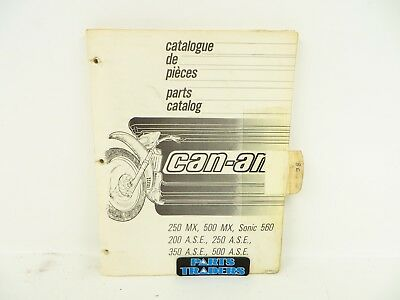 Oem Genuine Can-Am Parts Catalog Manual 250 500 200 350 MX ASE Sonic 560