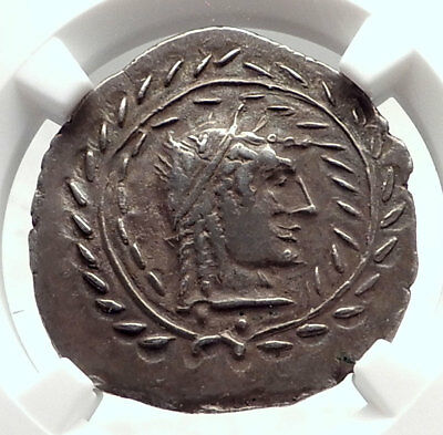 ARABIA Saba Kingdom 160BC Owl as Athens Silver Ancient Greek Coin NGC i72612