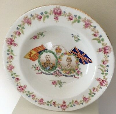 Vintage King George V Queen Mary Coronation China Bowl June 22, 1911 Aynsley