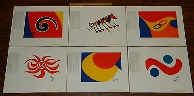 Original Alexander CALDER Braniff Airlines MENU COVERS 1974 Lithograph NM poster