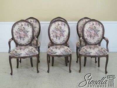 L45423EC: Set Of 6 French Louis XV Upholstered Dining Room Chairs