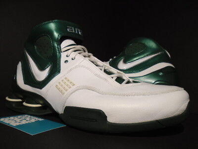 1d3f6814687 2006 Nike Shox Elite Tb Michigan State Spartans White Metallic Green Bb4  11.5