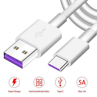 USB-C 5A Super Fast Charging Cable USB 3.1 Type C Fast Charger Sync Data Wire