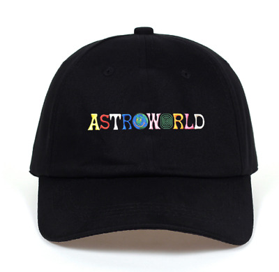 Travi$ Scott ASTROWORLD Dad Hat 100% Cotton (ONE SIZE FITS ALL) Black/ White