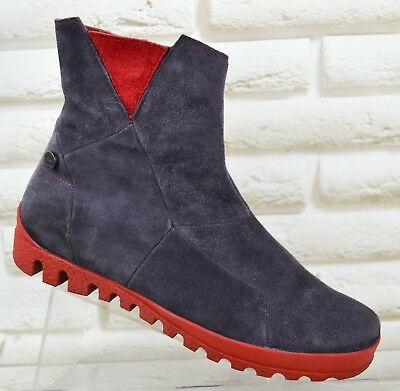3f03cca558 THINK! Womens Purple Suede Leather Ankle Boots Booties Shoes Zip Size 4 UK  37 EU