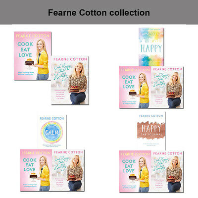 Fearne Cotton Collection Books Calm Cook Eat Love Happy Finding Set NEW Pack